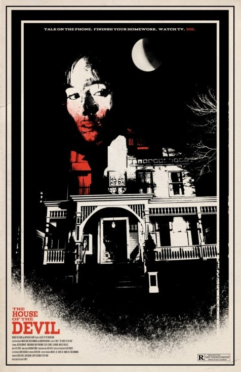 Love The House of the Devil, and I'm equally enamoured with this poster for said film by artist Adam Juresko.