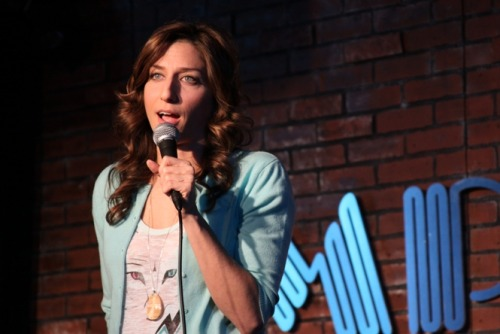 "comediva:  LINK: ""Boss Lady: Chelsea Peretti,"" by The Daily BR!NK Even if you've never heard of Chelsea Peretti, there's a good chance you've already seen her work. She's made appearances on shows like Louie, Last Call with Carson Daly, Lopez Tonight, The Smoking Gun Presents: World's Dumbest, and The Sarah Silverman Program (which she also wrote for). Now, in addition to being an acclaimed stand-up comedian, she is also a writer on NBC's hit sitcom Parks and Recreation. And as if that wasn't enough to keep anyone busy, she's also created several web series and sites that are as hilarious as they are unique in subject matter. After talking to Chelsea about stand-up, Parks and Rec, and, er, prostitution, it's safe to say that both the comedy scene and one of television's best sitcoms are in good hands.    I've seen her live! Read this!"