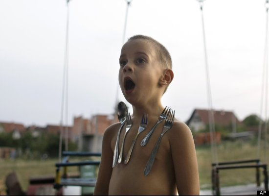 David Petrovic, 4, of Serbia is a real-life human magnet. He and his cousin, Luke Lukic, 6, have the medically unexplained ability to attract metallic objects.