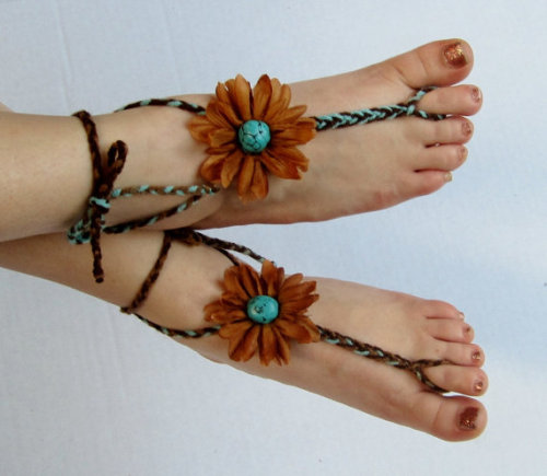 "Reason #1 why I can't take Etsy seriously: These are not shoes.  Try going into a store wearing those, they'll kick you out.  SO STOP CALLING STRINGS ON TOP OF YOUR FEET SHOES. Plus, ""barefoot shoes"" just sounds stupid.  Oxymoron, emphasis on the moron."