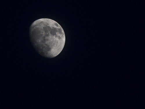 Waxing Gibbous Moon on Flickr.Via Flickr: Waxing Gibbous Moon, shot at 200mm on a Nikon D40. Incidently my best moon shot to date, my two previous attempts (flic.kr/p/7zFZDX & flic.kr/p/74sj5X) never really hit the mark, but i'm very happy with this one. Image by Gary Danton, May 2012.Twitter | Facebook | Blog