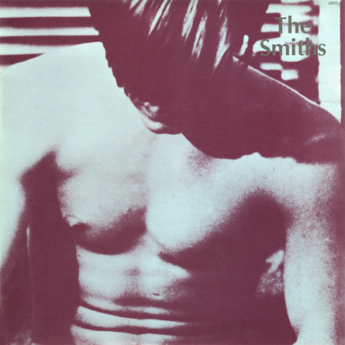 "cover art  for The Smiths 1984 album,  The Smiths  this cropped, (edited from a nude frame), still was from the 1968 film,  ""flesh"" directed by  paul morrissey, an andy warhol/factory protégée…  warhol also produced the film."