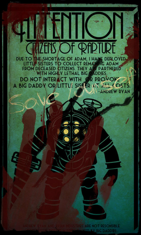 Awesome BioShock sign fan art.