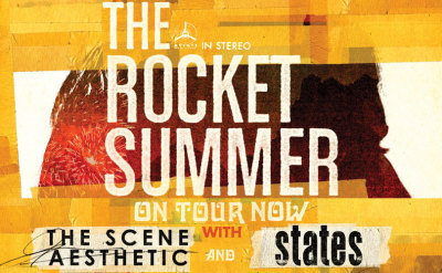 Full US tour with The Rocket Summer updated! tons of new dates… East coast, here ya go!   DATES  and TICKETS HERE: http://on.fb.me/statestour    We'll be making our way out on the road with The Rocket Summer and The Scene Aesthetic from May-July! Tickets for the first half of the tour are on sale now. Check out the dates here: 05/31 – Seattle, WA @ El Corazon – Tickets 06/02 – Sparks, NV @ The Alley – Tickets 06/03 – San Francisco, CA @ Slims – Tickets 06/05 – Los Angeles, CA @ The Roxy – Tickets 06/06 – Pomona, CA @ The Glass House – Tickets 06/07 – Las Vegas, NV @ Hard Rock Café (Vegas Strip) – Tickets 06/08 – San Diego, CA @ The Irenic – Tickets 06/09 – Scottsdale, AZ @ Martini Ranch – Tickets 06/11 – Salt Lake City, UT @ Club Sound – Tickets 06/12 – Denver, CO @ The Summit Music Hall – Tickets 06/14 – Houston, TX @ Warehouse Live(Studio) – Tickets 06/15 – Dallas, TX @ Granada Theatre – Tickets 06/16 – Austin, TX @ The Parish – Tickets 06/19 – St. Petersburg, FL @ The State Theatre 06/20 – Orlando, FL @ The Social 06/21 – Atlanta, GA @ The Masquerade 06/22 – Richmond, VA @ Kingdom 06/23 – Baltimore, MD @ Sonar 06/25 – New York, NY @ Highline Ballroom 06/26 – Philadelphia, PA @ 1st Unitarian Church 06/27 – Cambridge, MA @ The Middle East 06/28 – Montreal, QC @ La Tulipe 06/29 – Toronto, ON @ Virgin Mobile Mod Club 07/01 – Pontiac, MI @ Crofoot Ballroom 07/03 – Chicago, IL @ The Bottom Lounge 07/04 – St Paul, MN @ Station 4 07/06 – Lawrence, KS @ Granada Theatre  Plllllease Tell ya friends, tell ya wife and Repost!!!