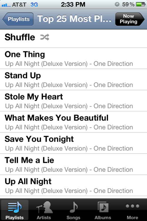 I'm slightly obsessed with one direction.