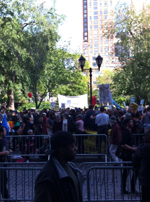 Union Square yesterday. May Day=Occupy Wall Street (or 14th st.)