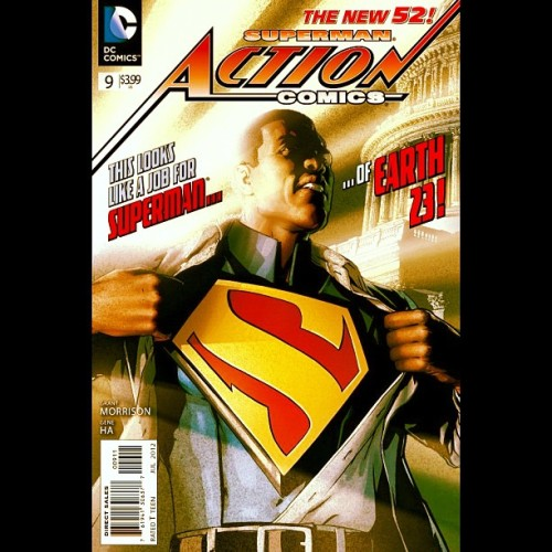 #Superman #ActionComics #Earth23 #Multiverse #BlackSuperman #AfricanAmerican #BlackPresident #DC #Comics (Taken with instagram)