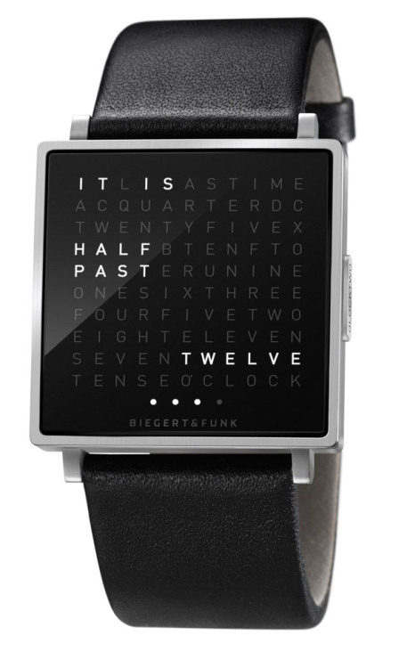 The QLOCKTWO     The world′s first wristwatch in words at Baselworld