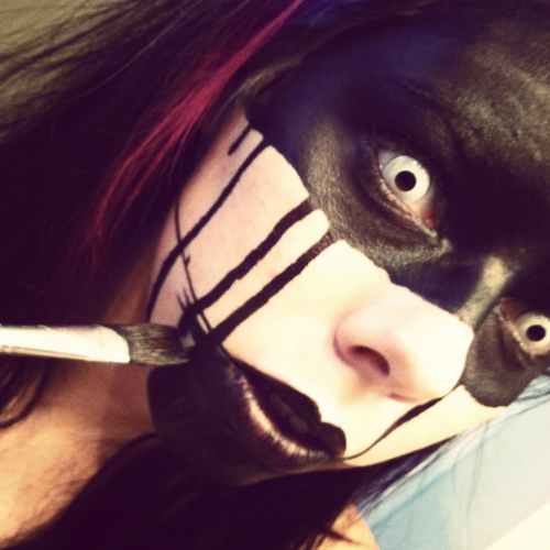 body painting time. #body paint #makeup #horror