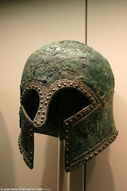 Ancient Greek Warrior Helmet on Flickr. Olympia, Elis, Greece26 April 2006 [ref: GR06-1137]
