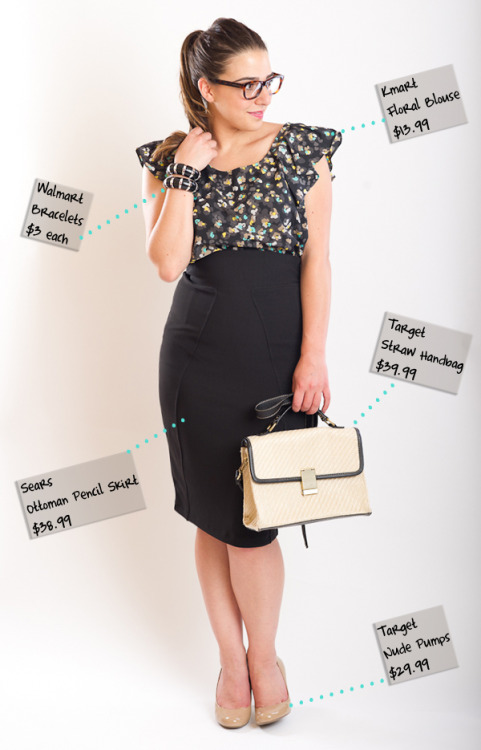 Young & Posh blogger Penny Chic created this chic office outfit for $123!