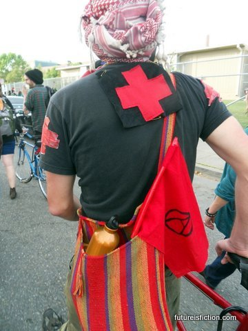Anarchist medic, Occupy Oakland General Strike on May Day.