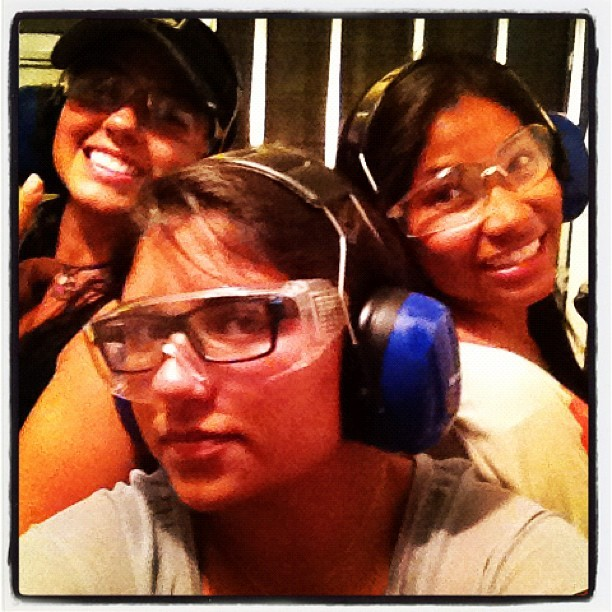 Girly date! #shooting range  (Taken with instagram)