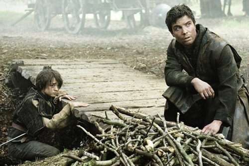 "aditu90:  Braavos was like a forgery. It was hot and loud and Gendry gave up to wipe away the sweat on his forehead. A man sees and a man understands. You lost something very dear to you. Lost can be found. But not here in Westeros … a man has to travel to find what belongs to him. And there are a lot treasures to find in Braavos.He had pressed the coin into Gendrys hands and whispered two foreign words that were strangely familiar to him. Valar morghulis. Then the man disappeared and Gendry found himself alone in the taverne, even it was crowded around him. Whenever he showed people the coin, they just pointed silent into the direction he had to go. His eyes teared because of the strange herbs they burned in the temple. And then he heard the voice.She had grown. Her hair was tied back into a knot but even after all the years everything in her face was hurtfully familiar as if it was just yesterday. Only her eyes … her eyes were as white as milk. ""Arya?"" he whispered in a husky voice. She stopped her chant and didn't move for a long time. Gendry was so scared to move because of an irrational fear that he would wake up in Westeros again with nothing but a strange dream and the spastic pain in his entails, the legacy of a longtime nurtured guilt of not running after her. Slowly, she stood up and her fingers found his face. Touching his skin, his jawline, his eyes and lips and nose, his beard and his neck, his broad shoulders. Her lips were moving but no sound escaped them. Finally ""Gendry?"" Without another word he drew her against his body, his nose in her hair and Gendry felt the tears falling down. ""You stupid, stupid … girl!""  (c) aditu90, 2012."
