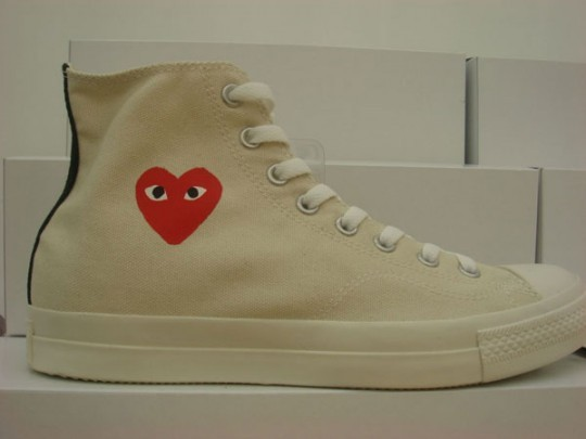 I forgot that I wanted these. This is the Converse x COMME des GARÇON high top All-Star, as seen in a photo shoot by Sandy Kim for The Fader, Free Space: Chinatown.