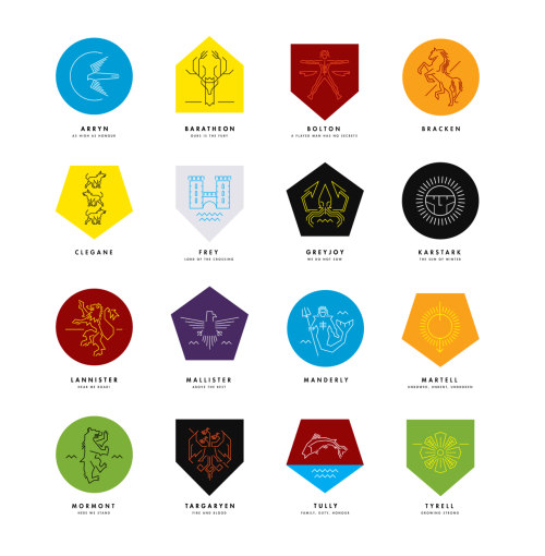 housesigilsandmottoes:  House sigils created by Futurehaus