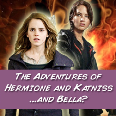 "COMIC LINK: ""The Adventures of Hermione and Katniss … and Bella? : Part 1,"" by Vickie Toro, art by Emily McGregor In a world where evildoers like Rush Limbaugh are determined to quash the existence of stronge female protagonists… Hermione and Katniss [and…Bella?] team up to fight back!"
