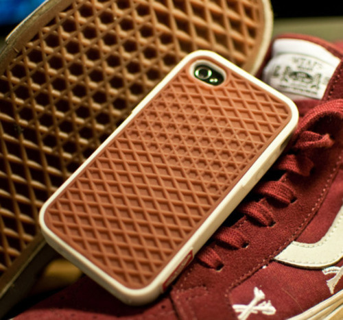 laughingsquid:  A Rubber Waffle iPhone Case Styled to Look Like a Vans Skate Shoe