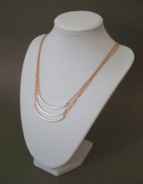 Etsy love: Rose gold and silver isn't a combination I would gravitate towards, but I like this!