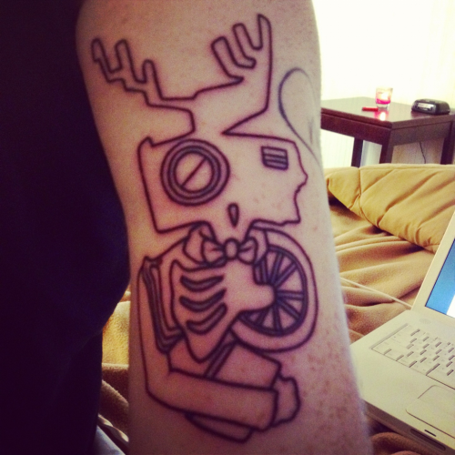 Newest tattoo! Art courtesy of helixduplo.