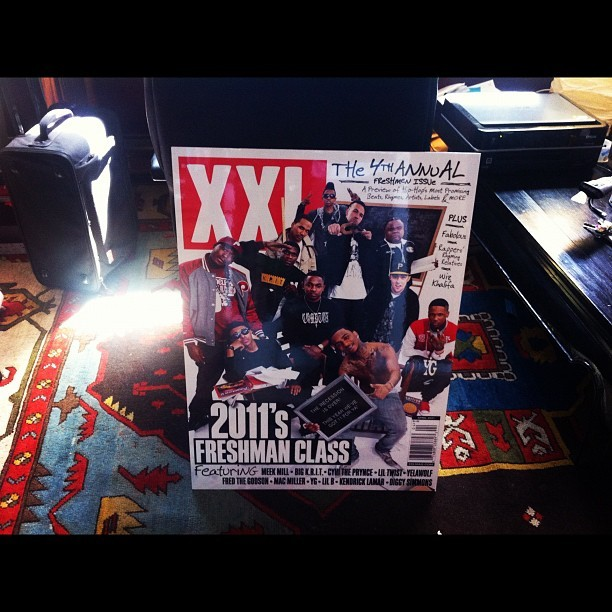 Shout out to XXL for sending me a gigantic Freshman Cover…..from 2011.  Hahaha!!!  YES!   (Taken with instagram)