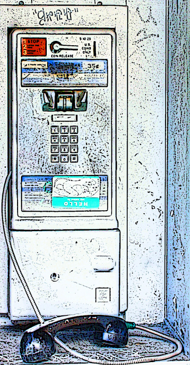 Good ol' pay phones.