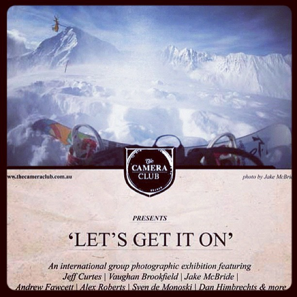 Let's Get it On, Camera Club initiative 2012 #snow #camera #club (Taken with instagram)