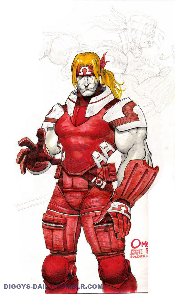 SKETCH OF THE DAY: OMEGA RED REDESIGN 2006