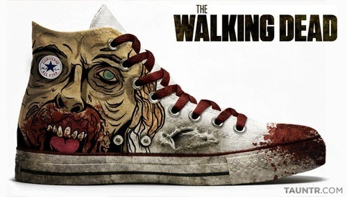Walking Dead Kicks: Pop Culture Meets Chuck Taylor on We Heart It. http://weheartit.com/entry/25005632  is this for real?!?