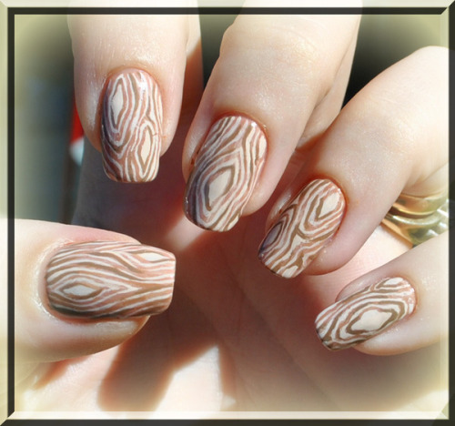 Check out Amanda S.'s woodsy-nail look!