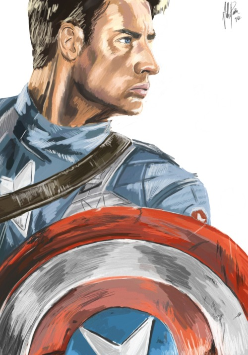 Captain America by: Gilbert Pena