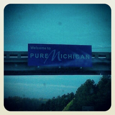 Officially in Michigan (Taken with instagram)
