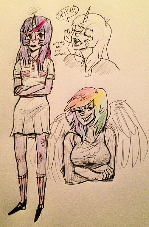 "icollectsmalllamas:  ""let me draw a very well-endowed rainbow dash"" i thought to myself as my parents cried the room over.  <3 <3 <3"