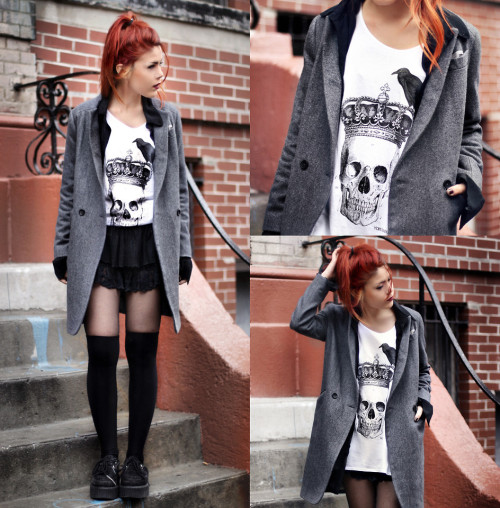 One of the best days of my life Lua P wearing my shirt on  LOOKBOOK.nu.  -xoxo The Dyslexic Blogger