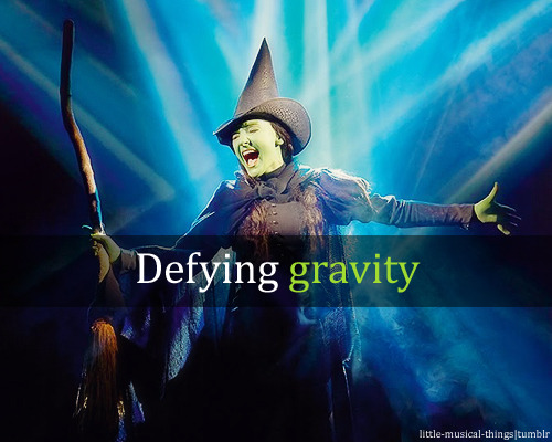 little-musical-things:  Defying gravity.