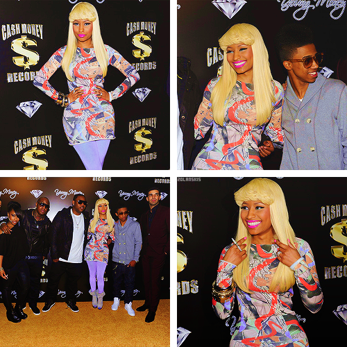 Back in time → Nicki Minaj and friends at the Pre-Grammy Awards Party, 11.02.11