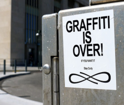 Graffiti is Over! by -Curly- on Flickr.