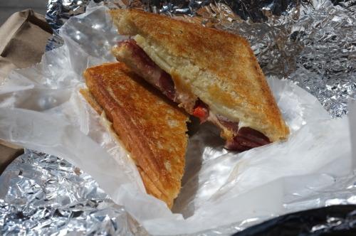 New York City: The Spaniard at Murray's Cheese Wonderfully buttered and toasted bread, full of sweet Manchego and Serrano. Grilled cheese perfection! http://www.murrayscheese.com/