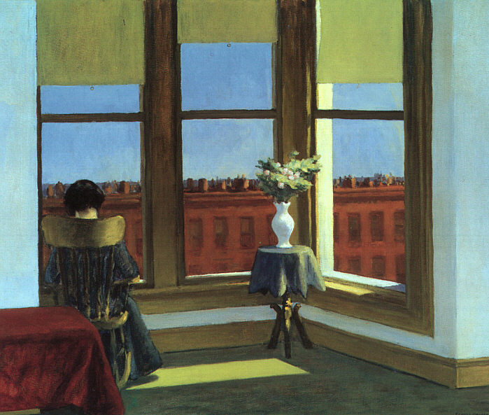 "workman:  gerutha: ""Room in Brooklyn""  by Edward Hopper"