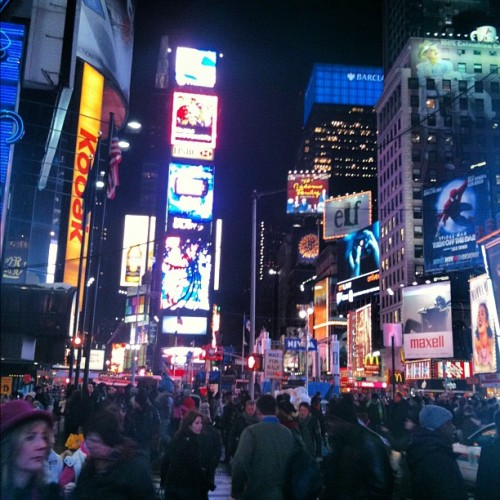 #timesquare #NYC #travel #tourist #holiday #vacation #cities #instagram  (Taken with instagram)