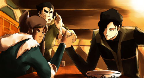 fuckyeahavatarshipping:  Tahno vs. Korra by *Jonie182  Mmmmm, more gorgeous art!