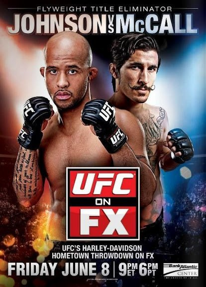 scsports:  UFC On FX 3 McCall Vs. Johnson Poster