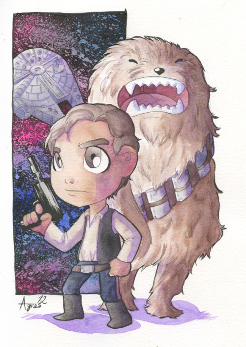 Han Solo and Chewbacca. This piece can be yours. :) With all the amazing reasons why you should go to Star Wars Day Toronto, here is another one. You might be the lucky winner of this Han Solo and Chewbacca drawn by me. :) With proceeds benefiting Sick Kids Foundation, why not attend Star Wars Day Toronto and try to win this super cute piece! Star Wars Day Toronto is this Friday May 4th! All the info can be found here.