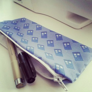 Tardis Zipper Pouch, $6.99 My friend Mari is selling these! She got sick recently and is in a tight spot with the bills, so I hope you'll take a look at her store. She also sells prints of her art for various fandoms.