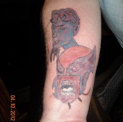 Is this the worst X-men tattoo in the world? Possibly.