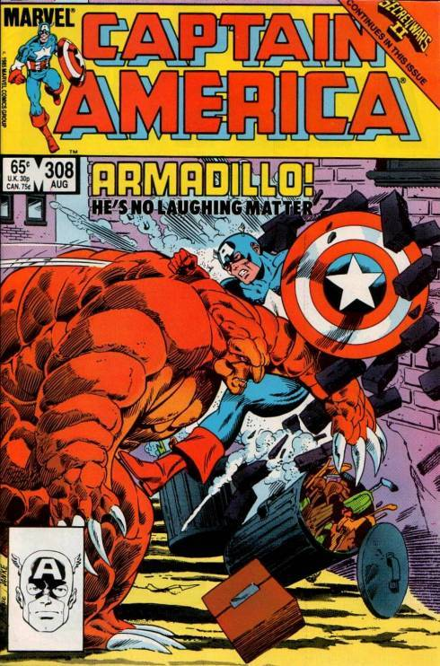 Captain America #308, August 1985, written by Mark Gruenwald, penciled by Paul Neary