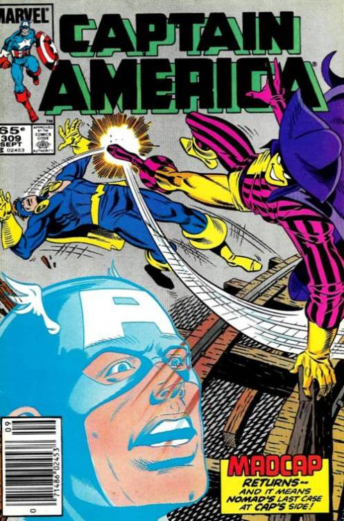 Captain America #309, September 1985, written by Mark Gruenwald, penciled by Paul Neary
