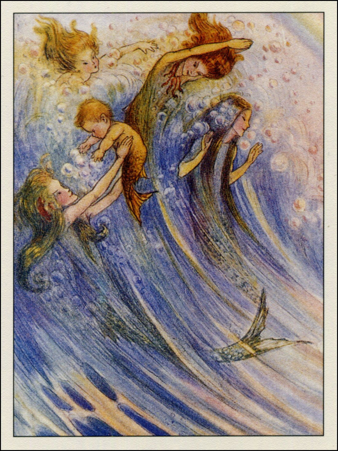 Flora White ~ Merfolk ~ 1913 ~ via