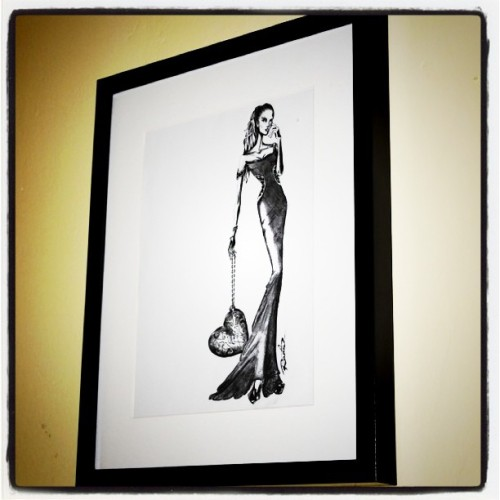 One of my illustration hanging proudly in our fierce home #fashionillustration #art (Taken with Instagram at Florence Home)