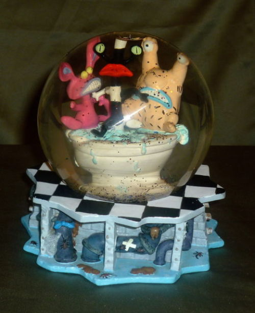 …did I seriously just win this INSANELY RARE Real Monsters snowglobe for $25??…*freaking out* I've been hunting this thing down for about 7 years now… it's been like my holy grail. Oh my god. It should arrive a day or two after my root canal XD I'm going to cuddle with it in bed like a freak :I Now all I need is the cookie jar, plush trash can, gromble straw holder, and the massive FunHouse game…..